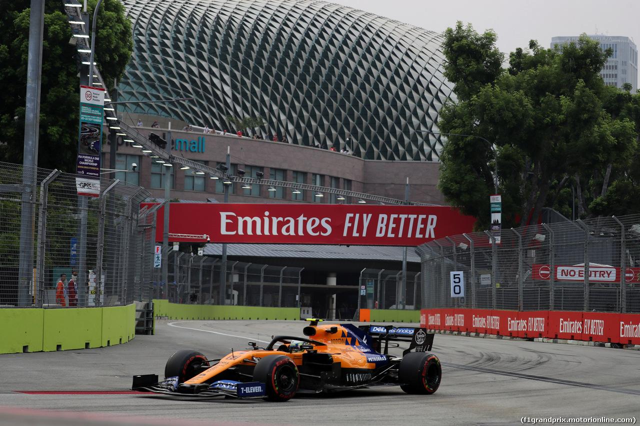 GP SINGAPORE, 20.09.2019 - Prove Libere 1, Lando Norris (GBR) Mclaren F1 Team MCL34