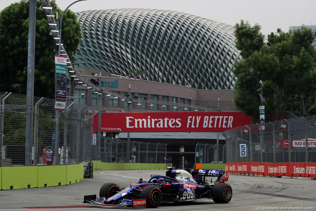 GP SINGAPORE, 20.09.2019 - Prove Libere 1, Pierre Gasly (FRA) Scuderia Toro Rosso STR14