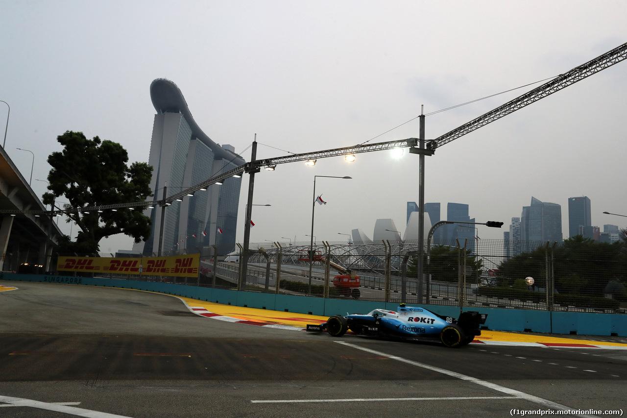 GP SINGAPORE, 20.09.2019 - Prove Libere 1, Robert Kubica (POL) Williams Racing FW42