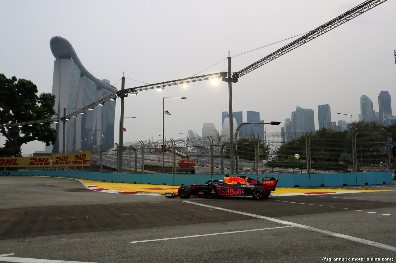 GP SINGAPORE, 20.09.2019 - Prove Libere 1, Max Verstappen (NED) Red Bull Racing RB15