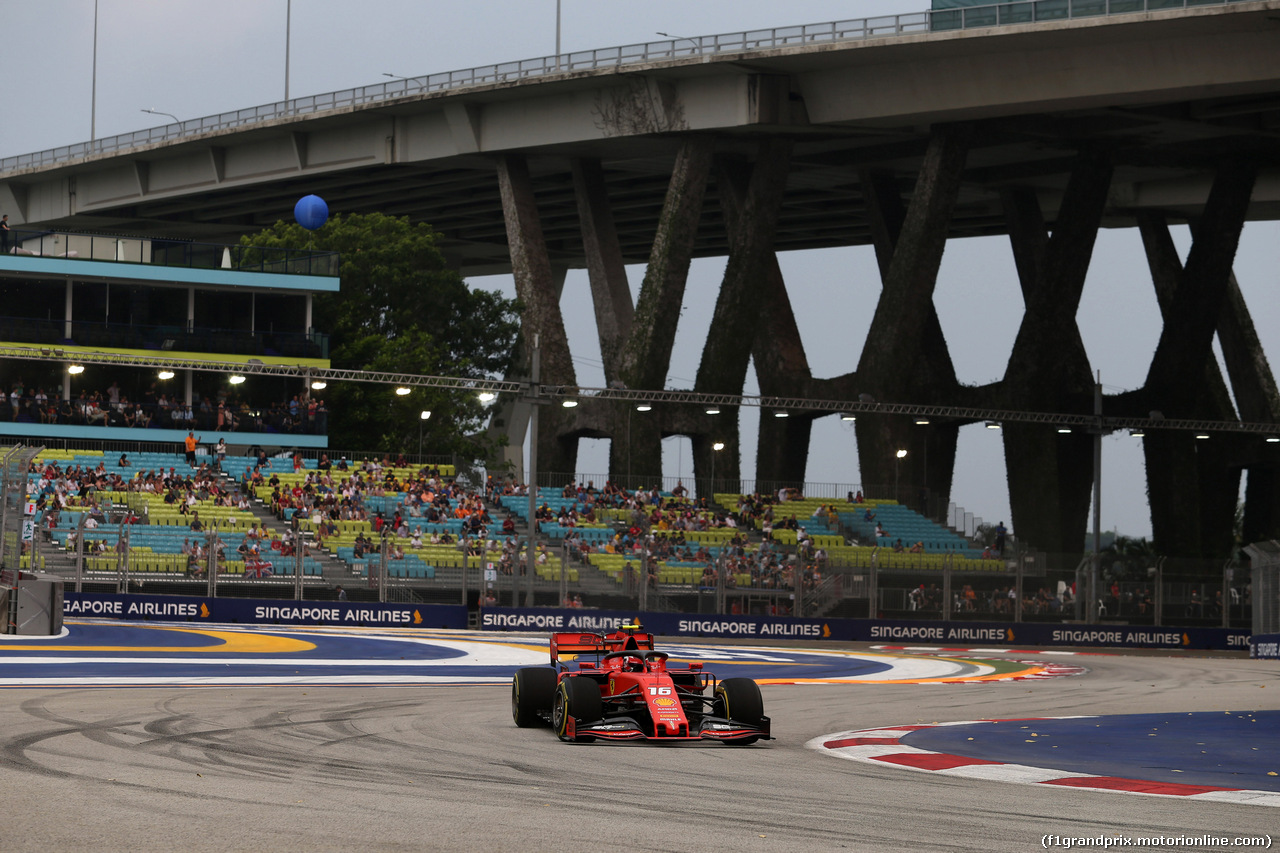 GP SINGAPORE, 20.09.2019 - Prove Libere 1, Charles Leclerc (MON) Ferrari SF90