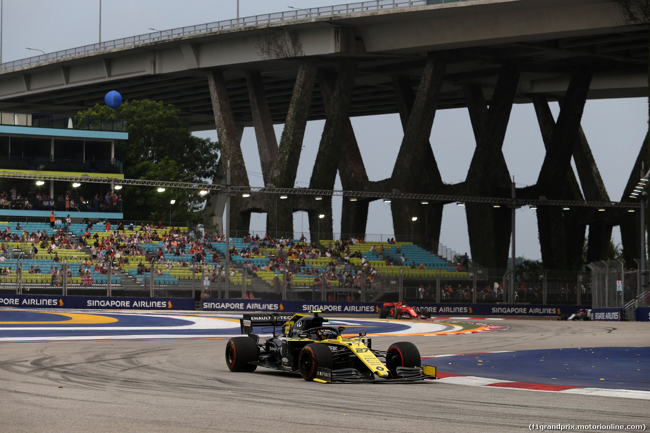 GP SINGAPORE, 20.09.2019 - Prove Libere 1, Nico Hulkenberg (GER) Renault Sport F1 Team RS19