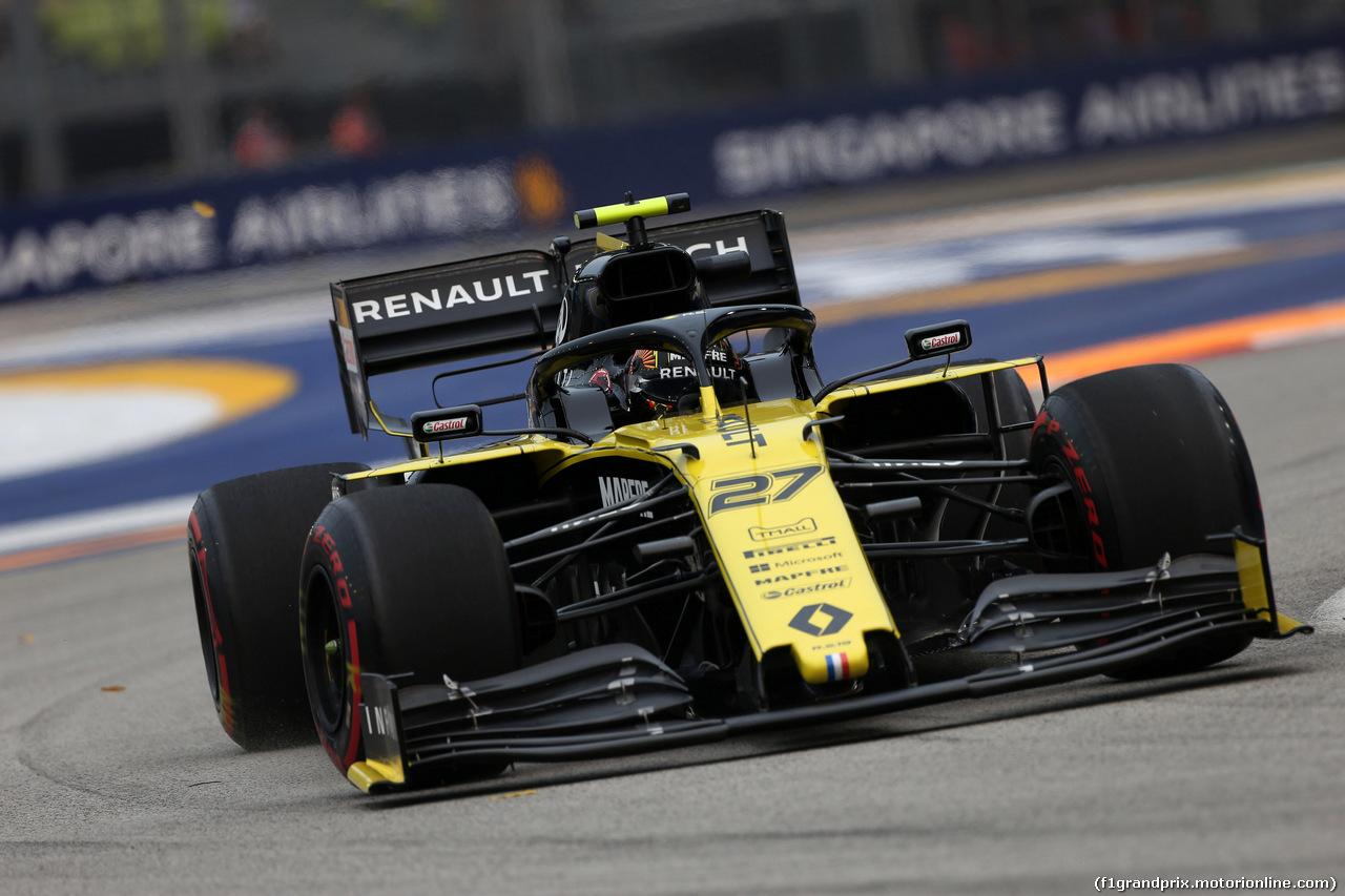 GP SINGAPORE, 20.09.2019 - Prove Libere 1, Nico Hulkenberg (GER) Renault Sport F1 Team RS19
