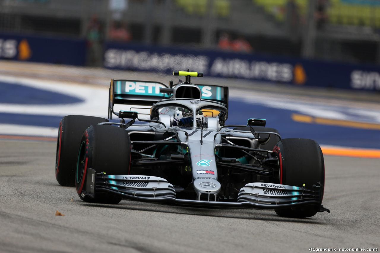 GP SINGAPORE, 20.09.2019 - Prove Libere 1, Valtteri Bottas (FIN) Mercedes AMG F1 W010