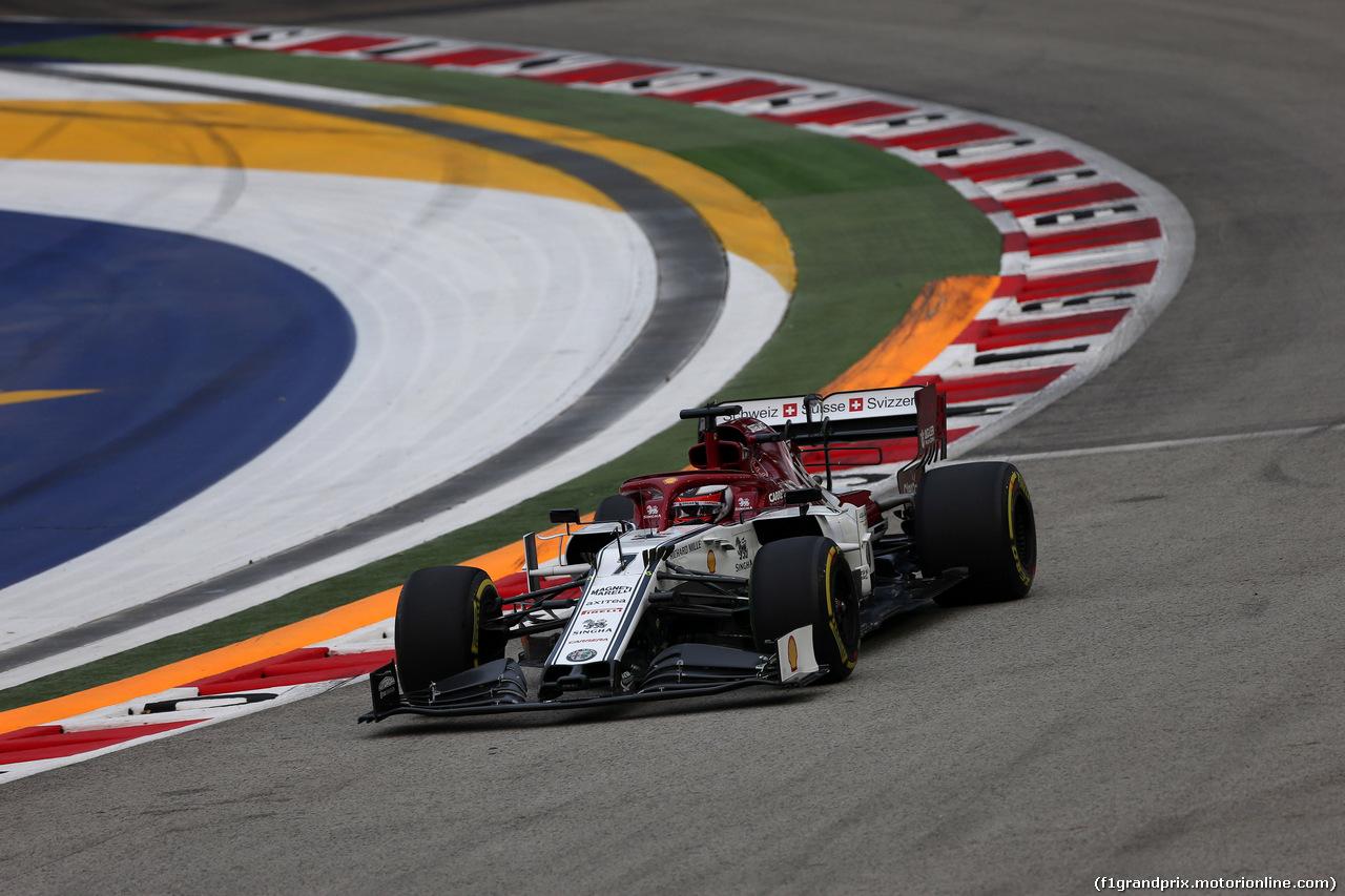 GP SINGAPORE, 20.09.2019 - Prove Libere 1, Kimi Raikkonen (FIN) Alfa Romeo Racing C38
