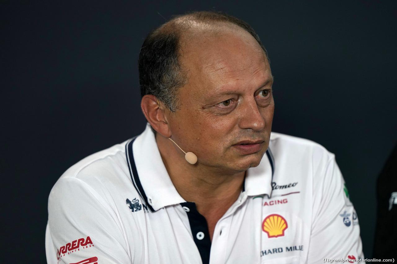 GP SINGAPORE, 20.09.2019 - Prove Libere 1, Frederic Vasseur (FRA) Alfa Romeo Racing, Team Principal