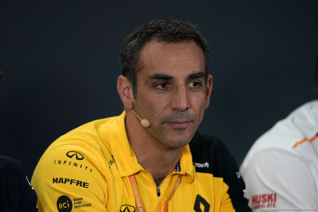 GP SINGAPORE, 20.09.2019 - Conferenza Stampa, Cyril Abiteboul (FRA) Renault Sport F1 Managing Director