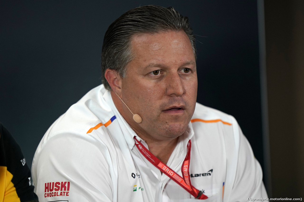GP SINGAPORE, 20.09.2019 - Conferenza Stampa, Zak Brown (USA) McLaren Executive Director