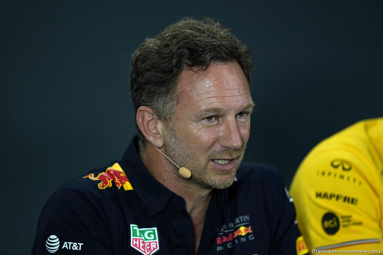 GP SINGAPORE, 20.09.2019 - Conferenza Stampa, Christian Horner (GBR), Red Bull Racing Team Principal