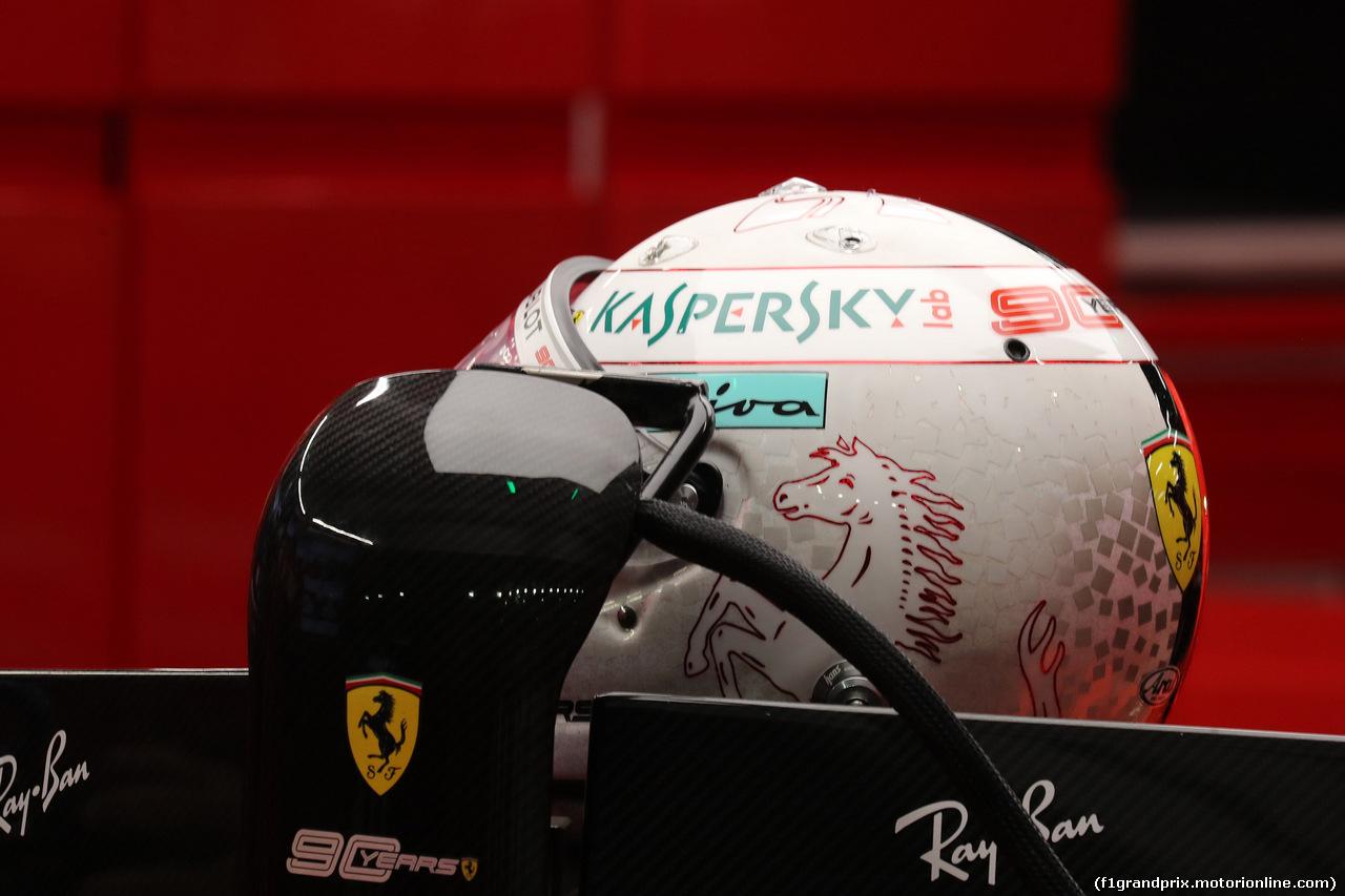 GP SINGAPORE, 20.09.2019 - Prove Libere 2, The helmet of Sebastian Vettel (GER) Ferrari SF90