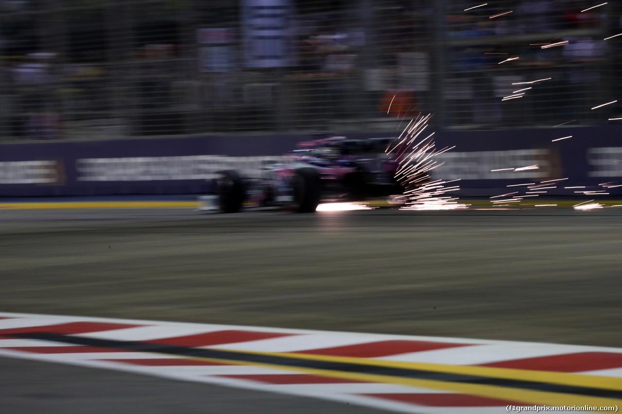 GP SINGAPORE, 20.09.2019 - Prove Libere 2, Sergio Perez (MEX) Racing Point F1 Team RP19