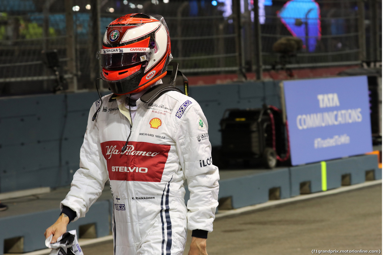 GP SINGAPORE, 20.09.2019 - Prove Libere 2, Kimi Raikkonen (FIN) Alfa Romeo Racing C38