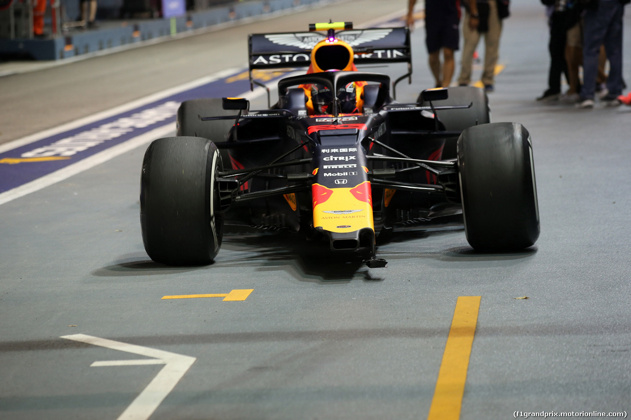 GP SINGAPORE, 20.09.2019 - Prove Libere 2, Alexander Albon (THA) Red Bull Racing RB15