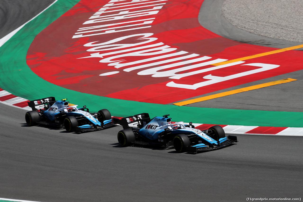 GP SPAGNA, 12.05.2019 - Gara, George Russell (GBR) Williams Racing FW42 e Robert Kubica (POL) Williams Racing FW42