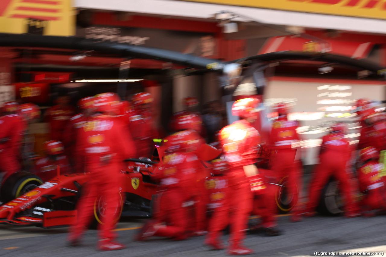 GP SPAGNA, 12.05.2019 - Gara, Pit stop, Charles Leclerc (MON) Ferrari SF90