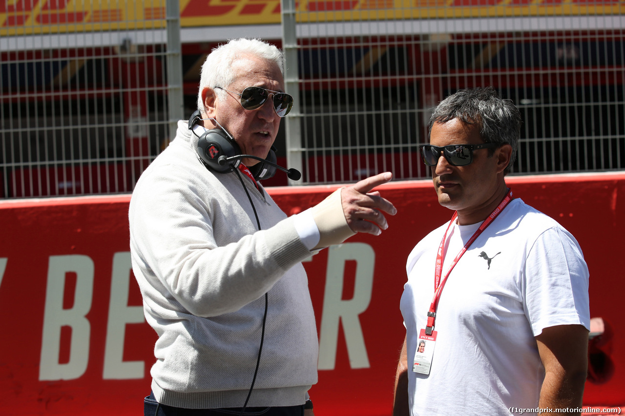 GP SPAGNA, 12.05.2019 - Gara, Lawrence Stroll (CAN) Racing Point F1 Team Investor e Juan Pablo Montoya (COL)