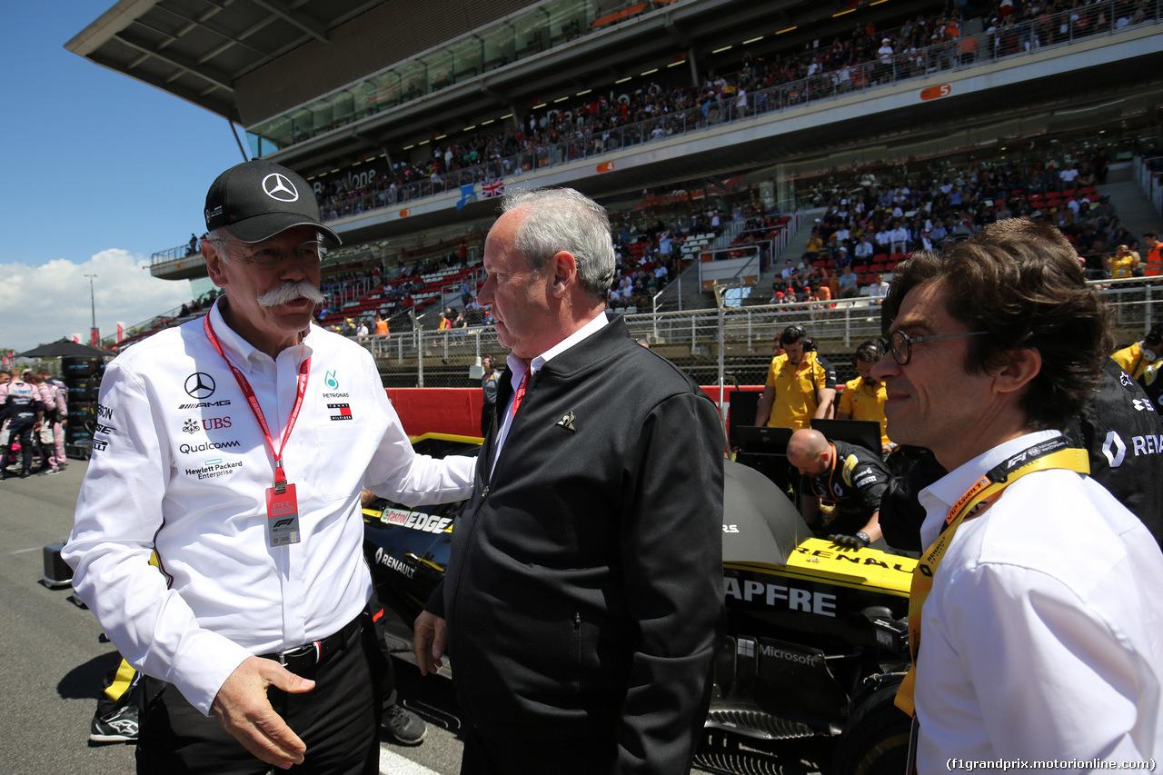 GP SPAGNA, 12.05.2019 - Gara, Dr. Dieter Zetsche, Chairman of Daimler e Jerome Stoll (FRA) Renault Sport F1 President
