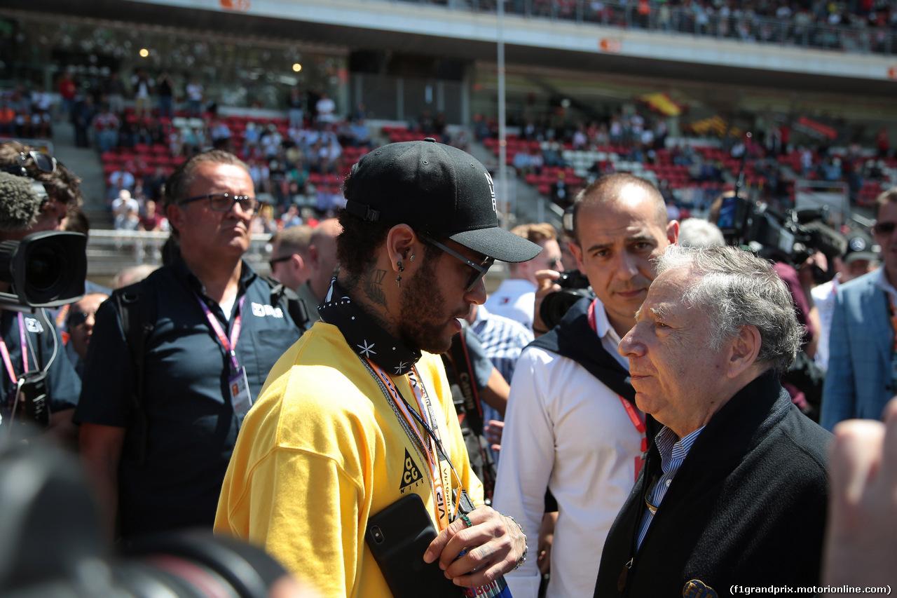 GP SPAGNA, 12.05.2019 - Gara, Neymar Jr (BRA) football play of PSG e Jean Todt (FRA), President FIA