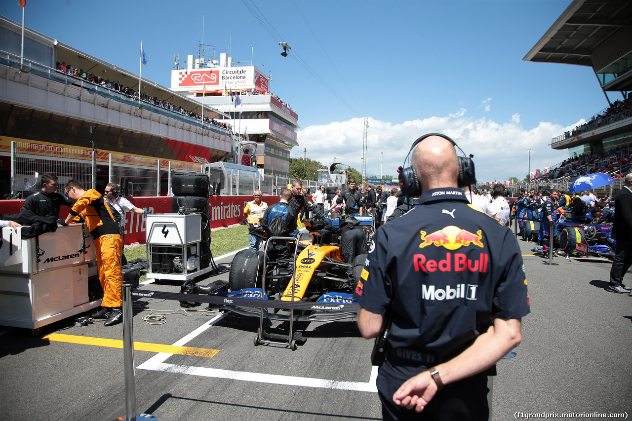 GP SPAGNA, 12.05.2019 - Gara, Lando Norris (GBR) Mclaren F1 Team MCL34 e Adrian Newey (GBR), Red Bull Racing , Technical Operations Director