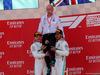 GP SPAGNA, 12.05.2019 - Gara, 2nd place Valtteri Bottas (FIN) Mercedes AMG F1 W010, Dr. Dieter Zetsche, Chairman of Daimler e Lewis Hamilton (GBR) Mercedes AMG F1 W10 vincitore