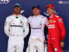 GP SPAGNA, 11.05.2019 - Qualifiche, 2nd place Lewis Hamilton (GBR) Mercedes AMG F1 W10, Valtteri Bottas (FIN) Mercedes AMG F1 W010 pole position e 3rd place Sebastian Vettel (GER) Ferrari SF90