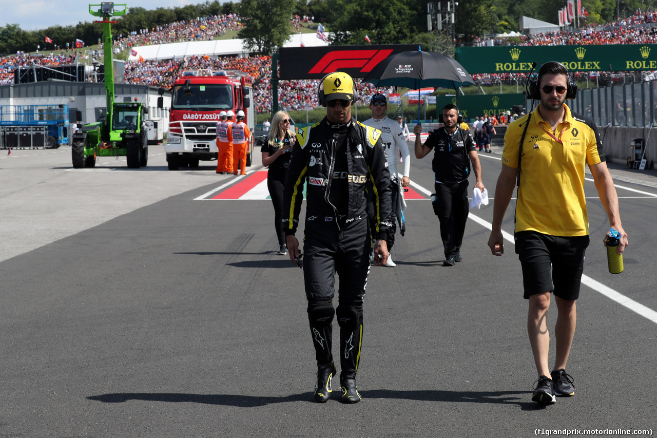 GP UNGHERIA, 04.08.2019 - Gara, Daniel Ricciardo (AUS) Renault Sport F1 Team RS19