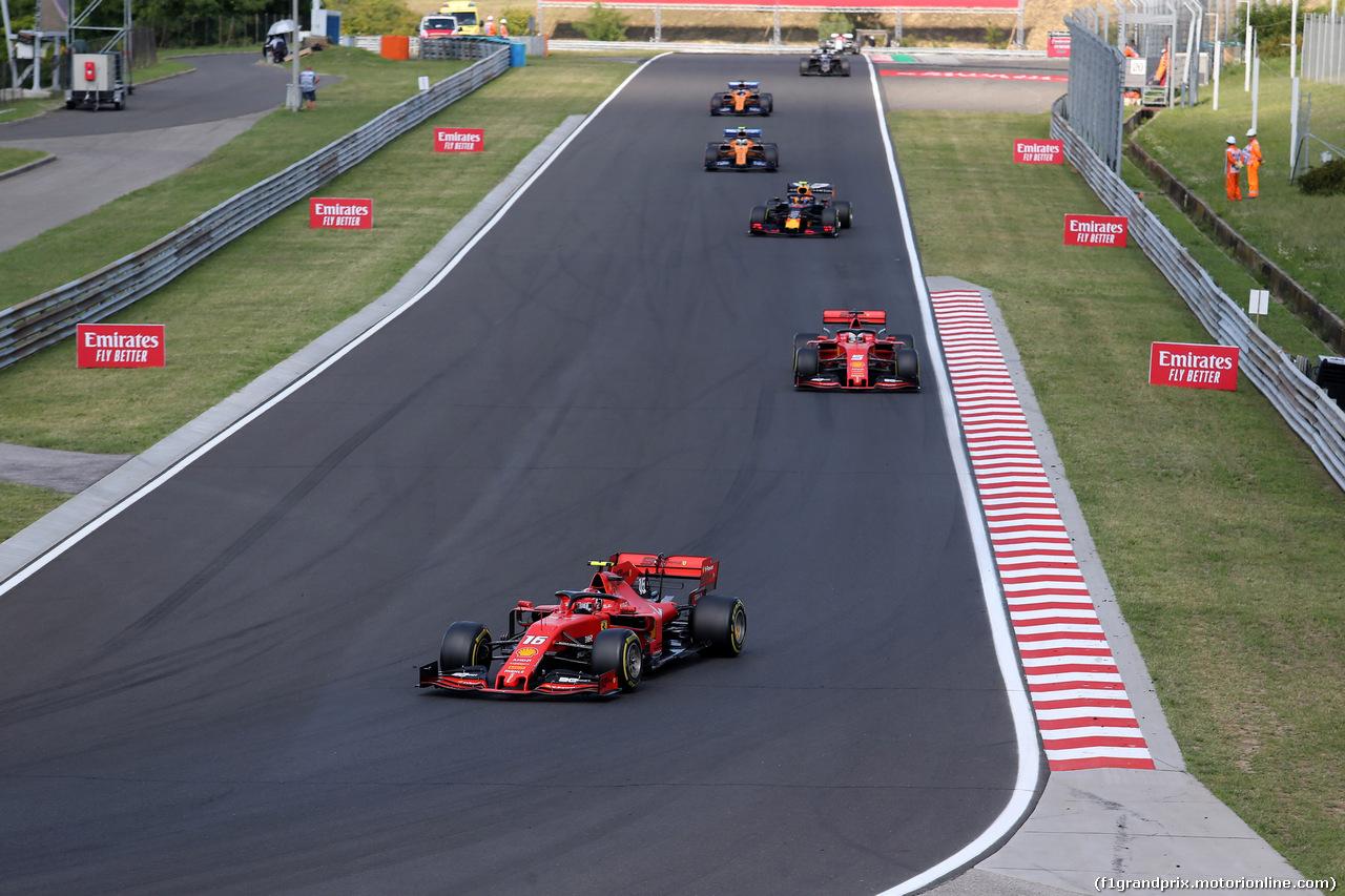 GP UNGHERIA, 04.08.2019 - Gara, Charles Leclerc (MON) Ferrari SF90 e Sebastian Vettel (GER) Ferrari SF90