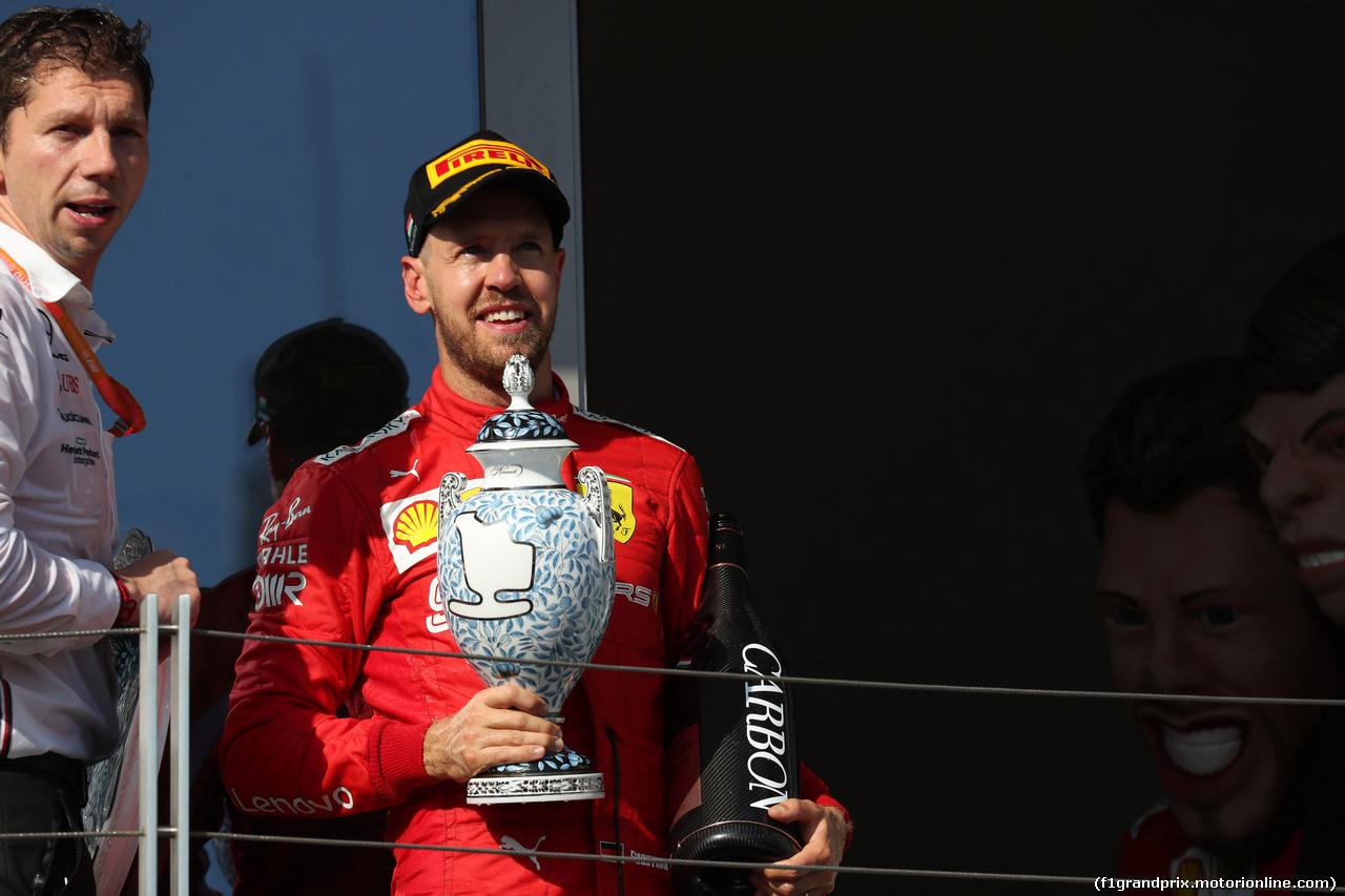 GP UNGHERIA, 04.08.2019 - Gara, 3rd place Sebastian Vettel (GER) Ferrari SF90