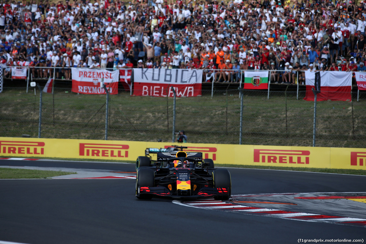 GP UNGHERIA, 04.08.2019 - Gara, Max Verstappen (NED) Red Bull Racing RB15