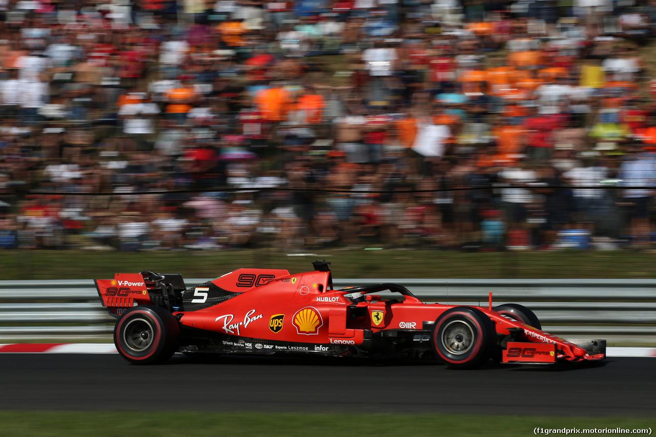 GP UNGHERIA, 04.08.2019 - Gara, Sebastian Vettel (GER) Ferrari SF90