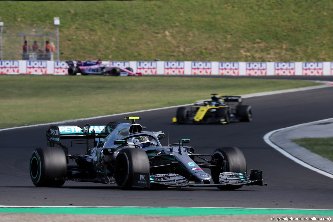 GP UNGHERIA, 04.08.2019 - Gara, Valtteri Bottas (FIN) Mercedes AMG F1 W010