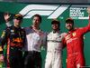 GP UNGHERIA, 04.08.2019 - Gara, 2nd place Max Verstappen (NED) Red Bull Racing RB15, Lewis Hamilton (GBR) Mercedes AMG F1 W10 vincitore e 3rd place Sebastian Vettel (GER) Ferrari SF90
