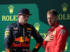 GP UNGHERIA, 04.08.2019 - Gara, 2nd place Max Verstappen (NED) Red Bull Racing RB15 e 3rd place Sebastian Vettel (GER) Ferrari SF90