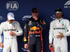 GP UNGHERIA, 03.08.2019 - Qualifiche, 2nd place Valtteri Bottas (FIN) Mercedes AMG F1 W010, Max Verstappen (NED) Red Bull Racing RB15 pole position e 3rd place Lewis Hamilton (GBR) Mercedes AMG F1 W10