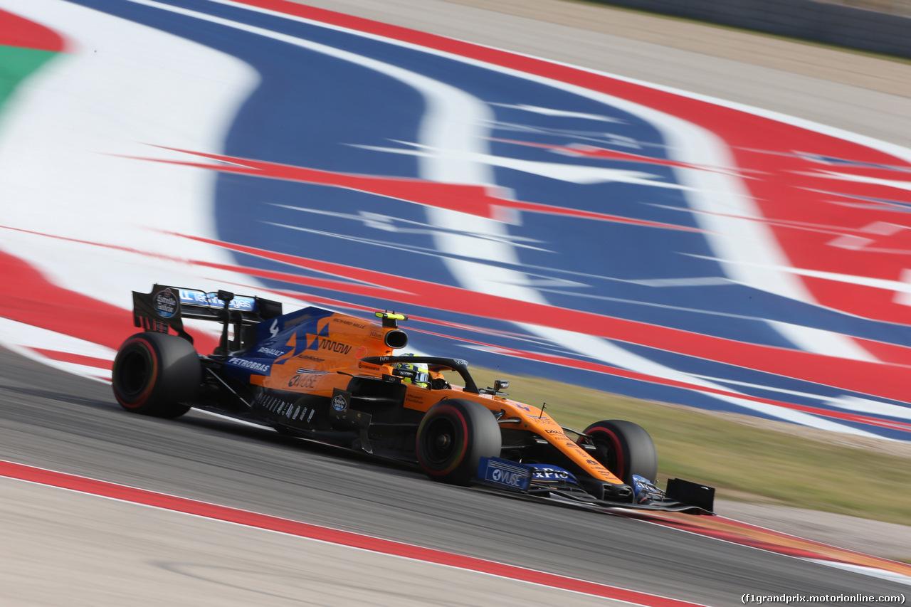 GP USA, 01.11.2019- Free practice 2, Lando Norris (GBR) Mclaren F1 Team MCL34