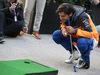 GP USA, 01.11.2019- Carlos Sainz Jr (ESP) Mclaren F1 Team MCL34 with Sebastian Munoz PGA golf pro