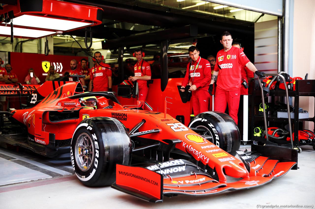 TEST F1 BAHRAIN 2 APRILE, Mick Schumacher (GER) Ferrari SF90 Test Driver leaves the pits. 02.04.2019.