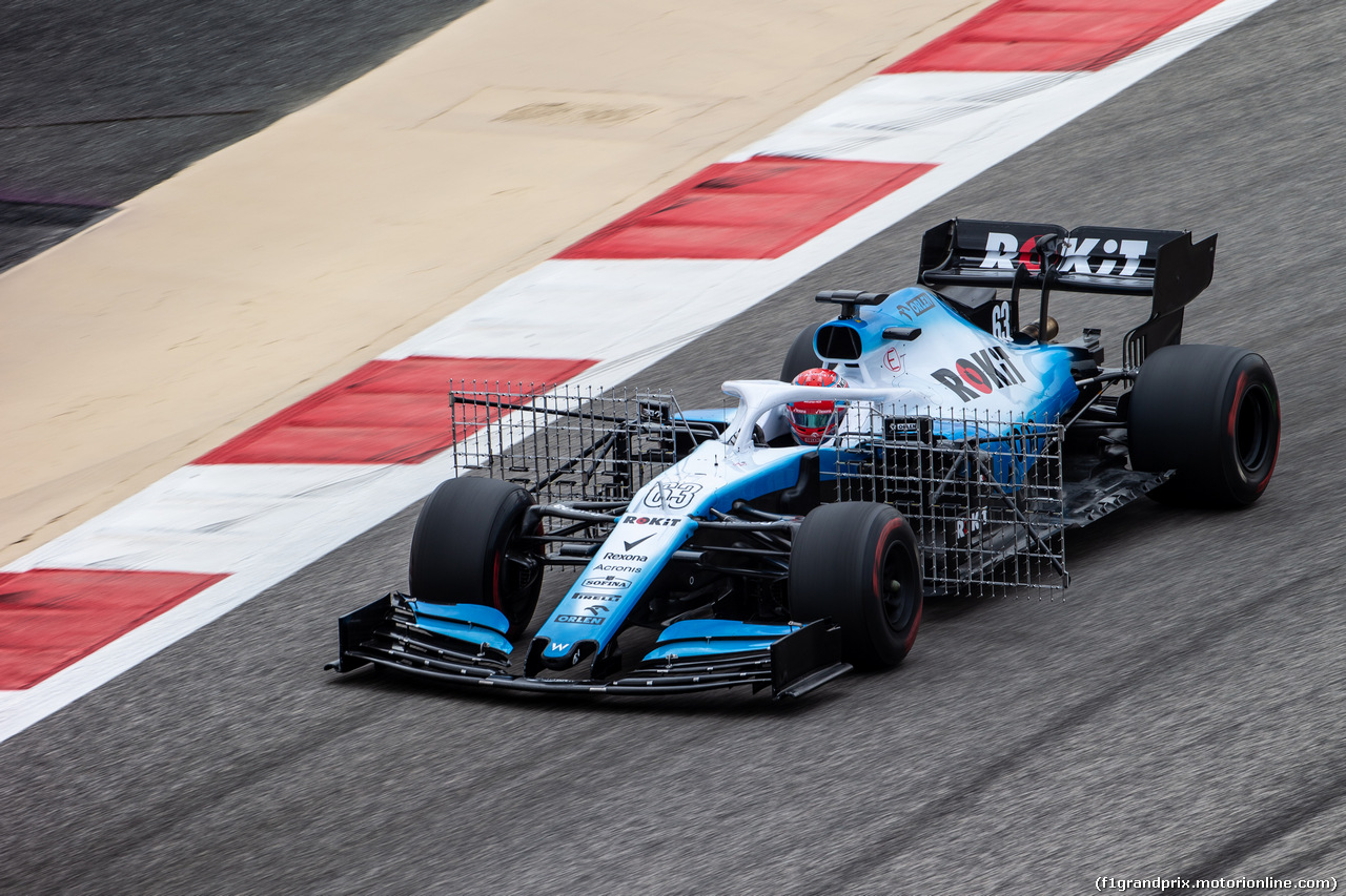 TEST F1 BAHRAIN 2 APRILE, George Russell (GBR) Williams Racing FW42. 02.04.2019.