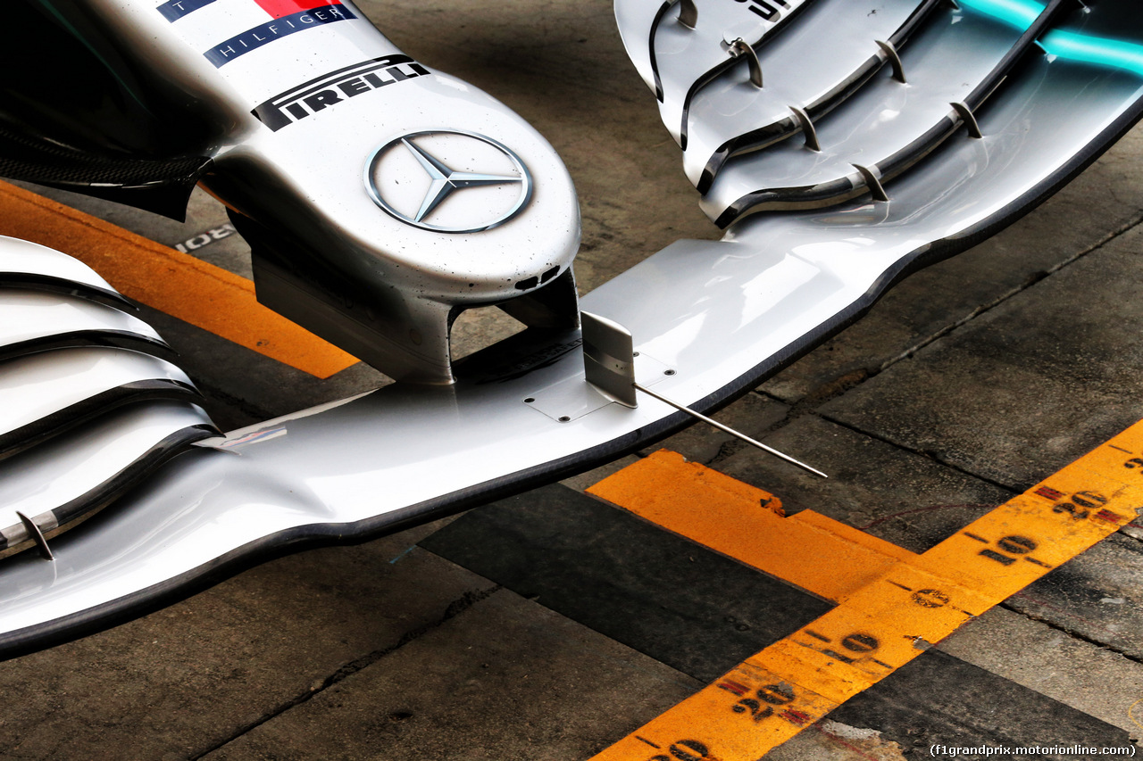TEST F1 BAHRAIN 2 APRILE, Mercedes AMG F1 W10 front wing detail. 02.04.2019.