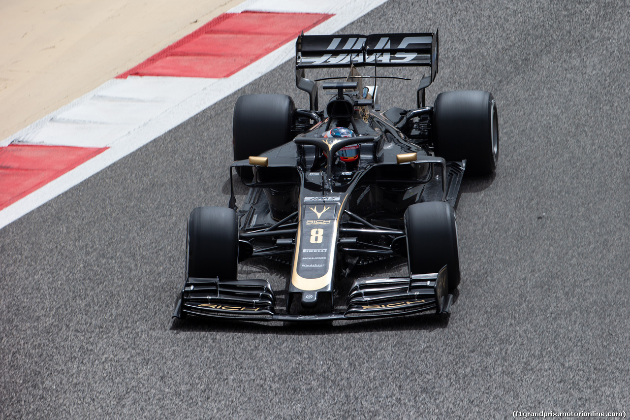 TEST F1 BAHRAIN 2 APRILE, Romain Grosjean (FRA) Haas F1 Team VF-19. 02.04.2019.