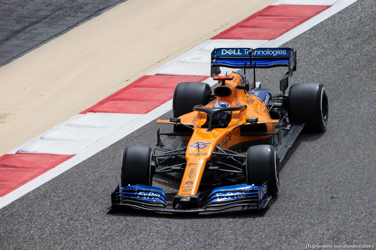 TEST F1 BAHRAIN 2 APRILE, Carlos Sainz Jr (ESP) McLaren MCL34. 02.04.2019.