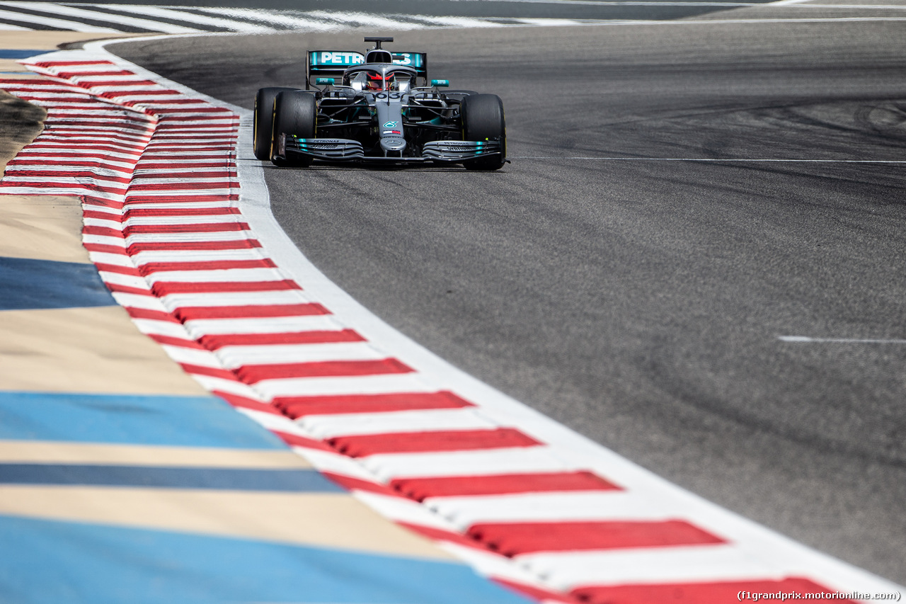 TEST F1 BAHRAIN 3 APRILE, George Russell (GBR) Mercedes AMG F1 W10 Test Driver. 03.04.2019.