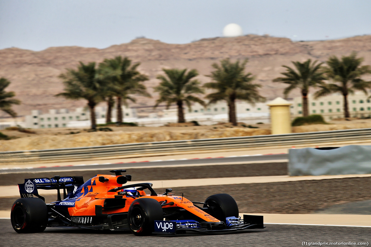 TEST F1 BAHRAIN 3 APRILE, Fernando Alonso (ESP) McLaren MCL34 Test Driver. 03.04.2019.