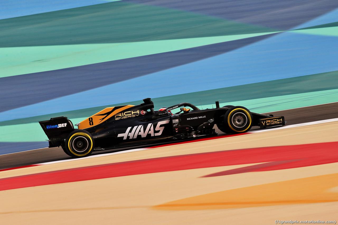 TEST F1 BAHRAIN 3 APRILE, Romain Grosjean (FRA) Haas F1 Team VF-19. 03.04.2019.