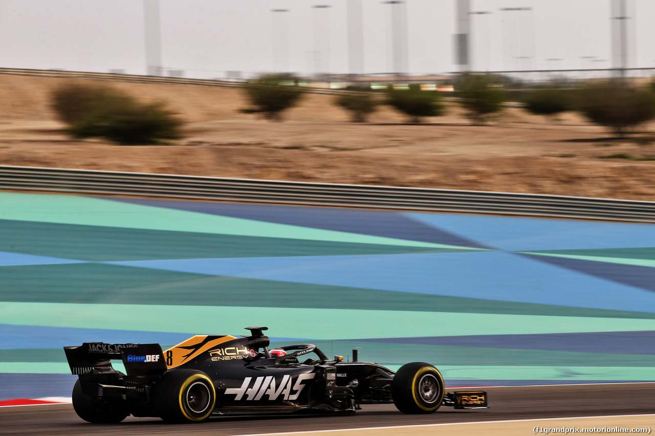 TEST F1 BAHRAIN 3 APRILE, Romain Grosjean (FRA) Haas F1 Team VF-19. 03.04.2019.