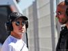 TEST F1 BARCELLONA 14 MAGGIO, (L to R): Nikita Mazepin (RUS) Mercedes AMG F1 Test Driver with Daniel Schloesser (GER) Personal Trainer. 14.05.2019.