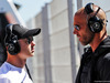TEST F1 BARCELLONA 14 MAGGIO, (L to R): Nikita Mazepin (RUS) Mercedes AMG F1 Test Driver with Daniel Schloesser (GER) Personal Trainer. 14.05.2019.