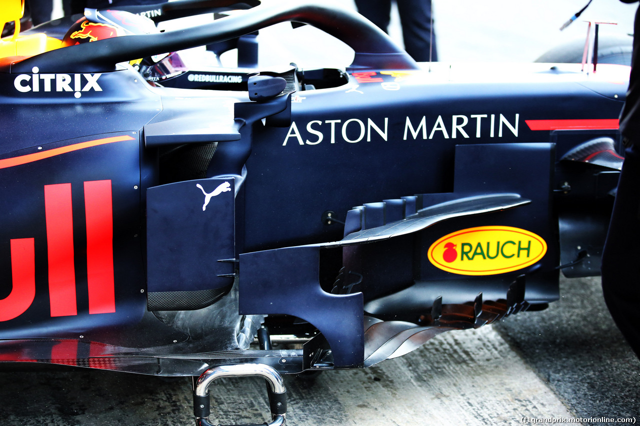 TEST F1 BARCELLONA 18 FEBBRAIO, Max Verstappen (NLD) Red Bull Racing RB14 - sidepod detail. 18.02.2019.