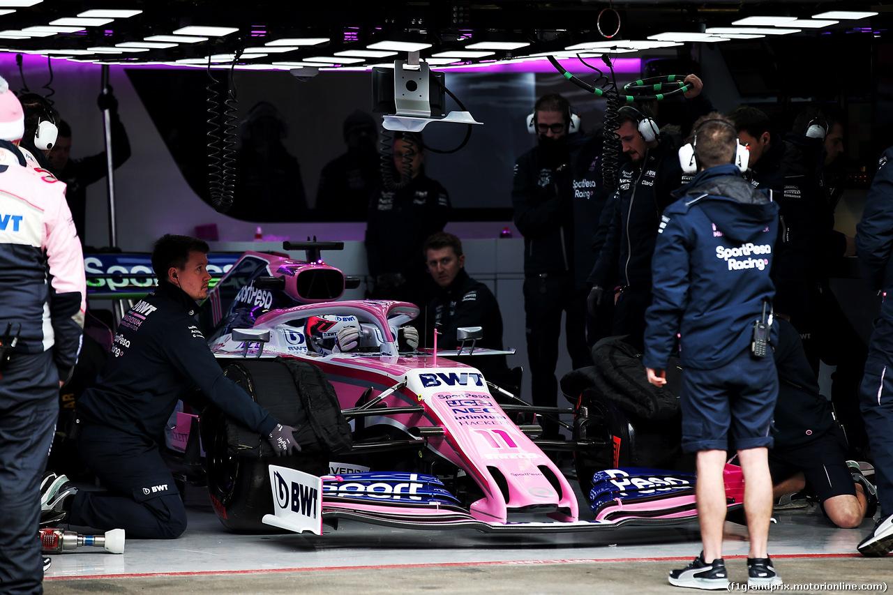 TEST F1 BARCELLONA 18 FEBBRAIO, Sergio Perez (MEX) Racing Point F1 Team RP19. 18.02.2019.