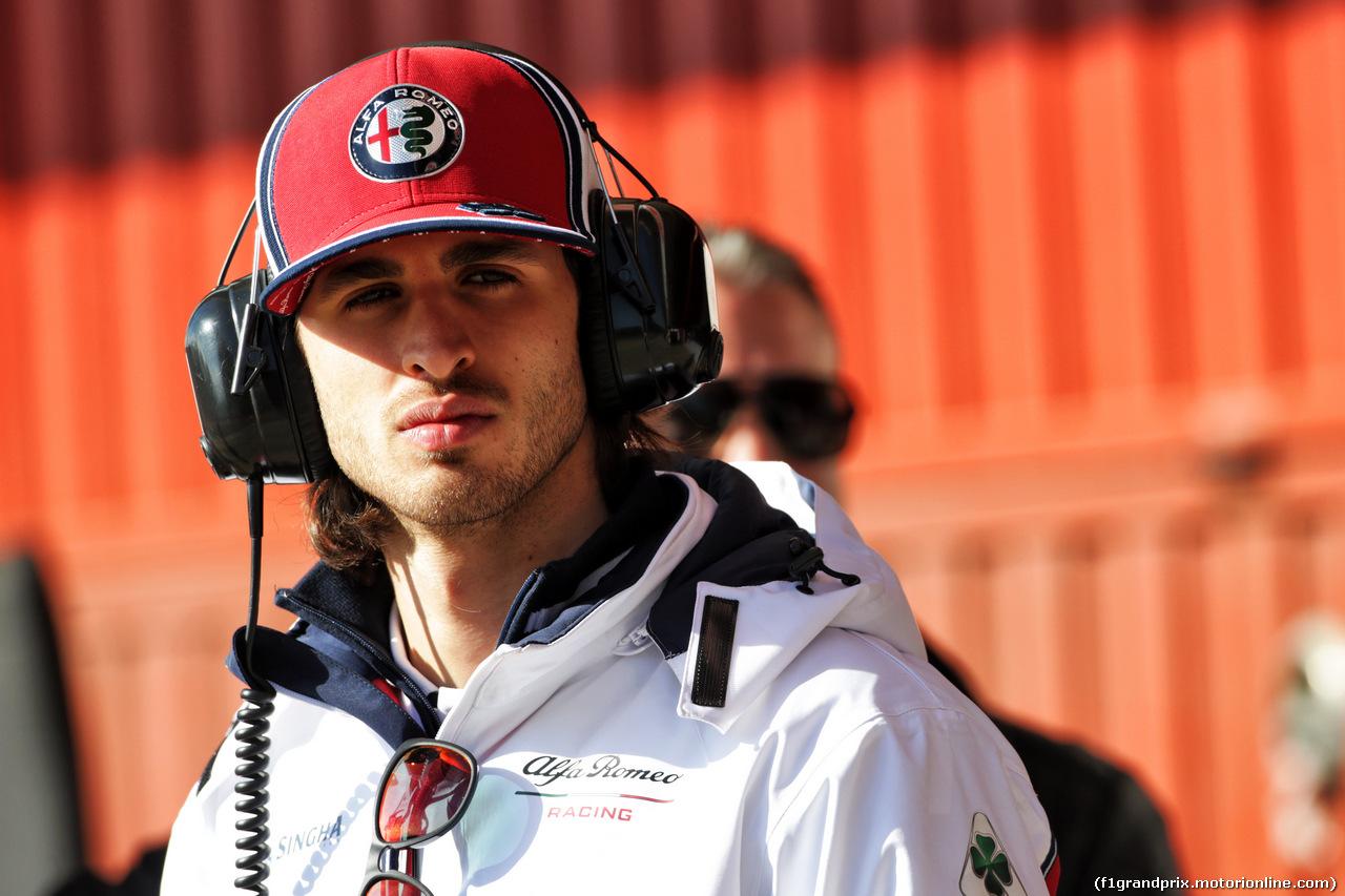 TEST F1 BARCELLONA 18 FEBBRAIO, Antonio Giovinazzi (ITA) Alfa Romeo Racing. 18.02.2019.